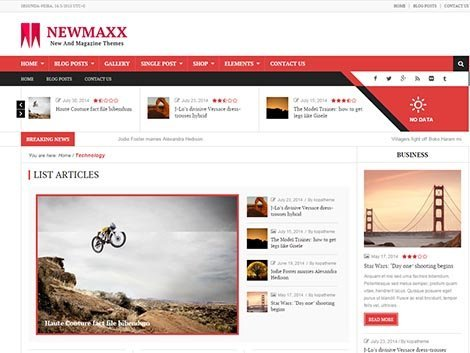 new maxx theme responsive wordpress free