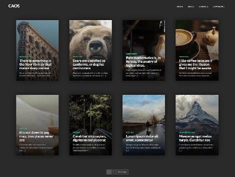theme wordpress caos responsive free