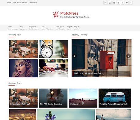 theme wordpress photopress responsive free