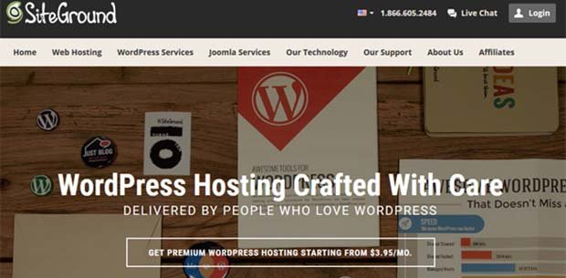 hosting terbaik wordpress siteground