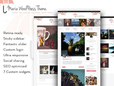 maria themes wordpress free blog