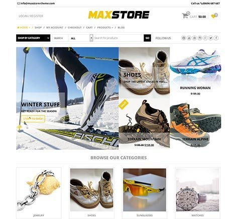 maxstore wordpress woocommerce free