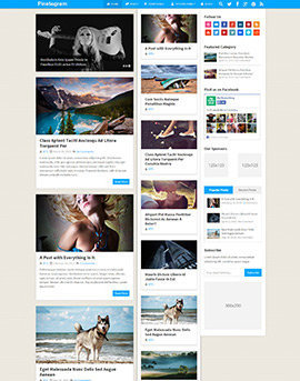 tema wordpress google adsense Pinstagram