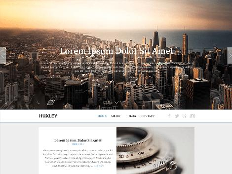 theme the huxley wordpress responsive