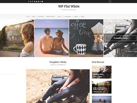 theme wordpress flat white free