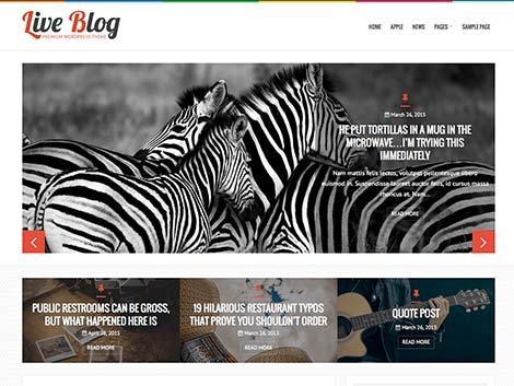 theme wordpress liveblog responsive free