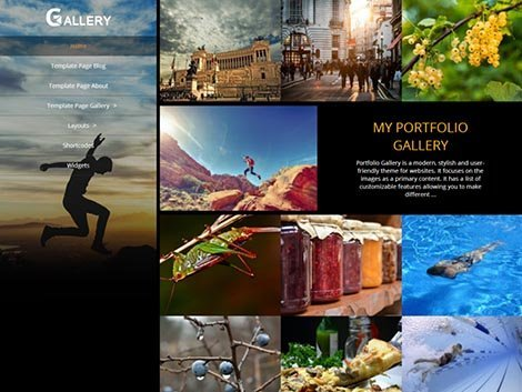 theme wordpress portfolio gallery free