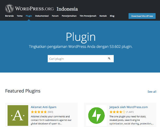 Direktori Plugin WordPress