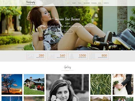 theme WordPress FotoGraphy Responsive Free