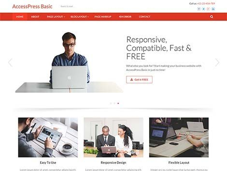 theme wordpress accesspress basic free