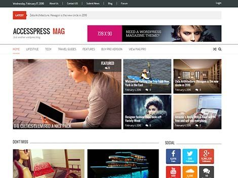theme wordpress accesspress mag free