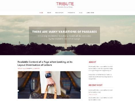 theme wordpress tribute