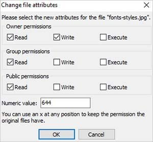 file permissions ftp