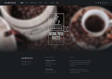 theme wordpress auberge responsive free