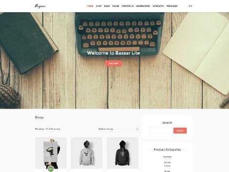 theme wordpress bazaar lite free