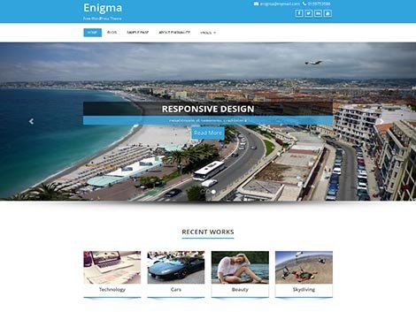 responsive wordpress enigma theme