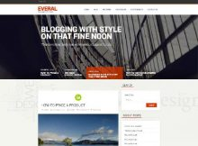 theme wordpress everal responsive free