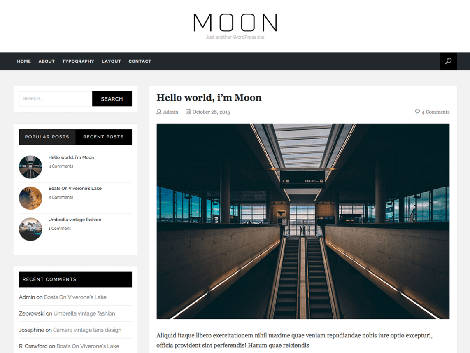 theme wordpress moon responsive free