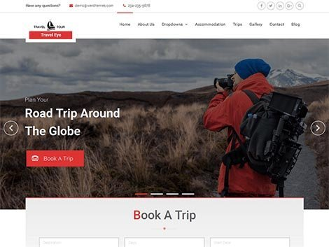 theme wordpress travel eye responsive free