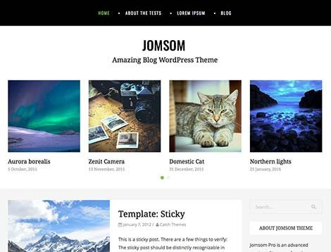 themes wordpress jomsom responsive free