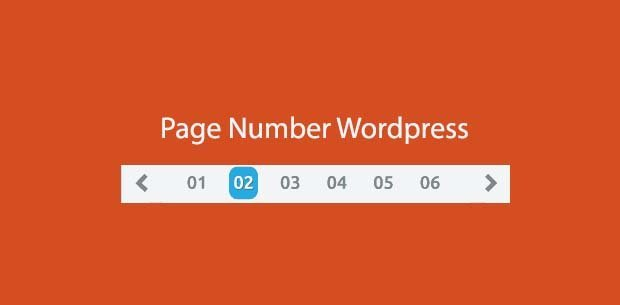 wordpress page number