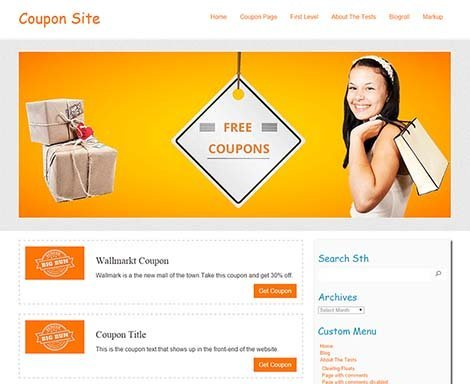 Theme WordPress Coupon Responsive Free