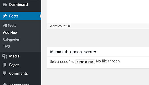 docx converter wordpress