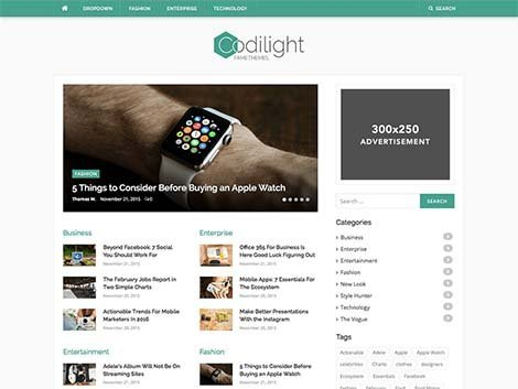 theme wordpress codilight lite responsive free