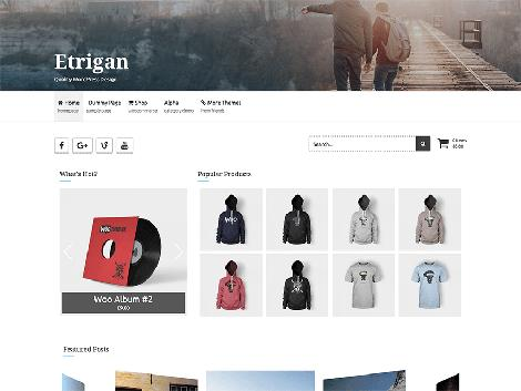 theme wordpress etrigan responsive free