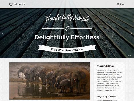 theme wordpress influence responsive free