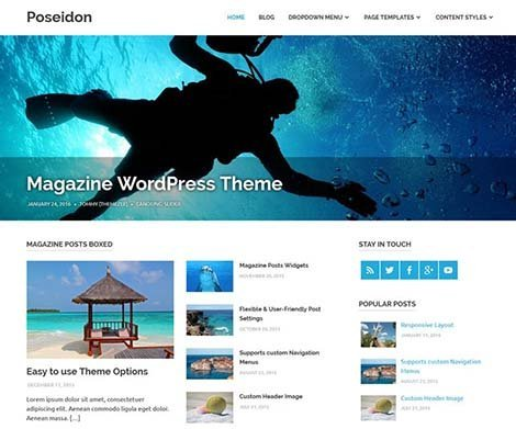 theme wordpress poseidon responsive free