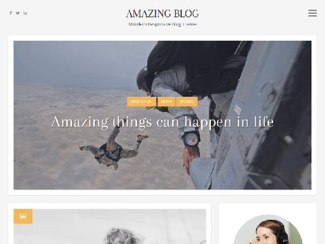Theme amazing blog responsive free