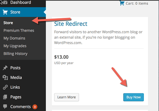add on redirect wordpress