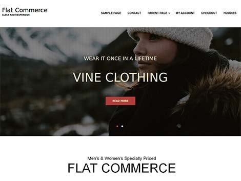 theme wordpress flat commerce responsive
