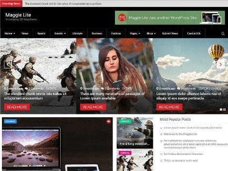 Theme WordPress Maggie Lite Free