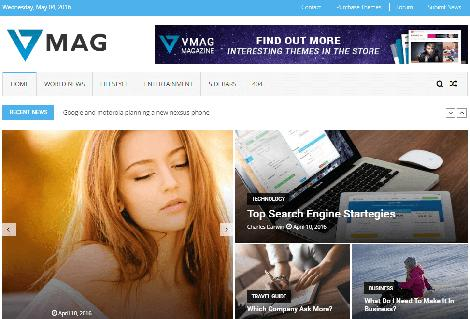 Theme WordPress VMag Responsive Free