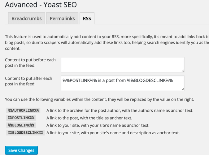 Yoast-RSS-feature