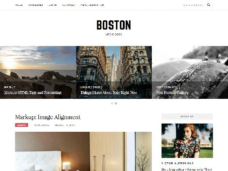 theme wordpress boston responsive free