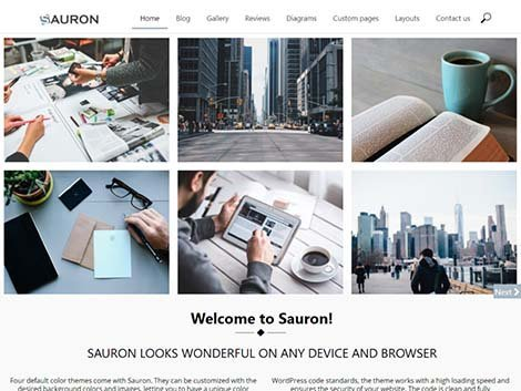 theme wordpress sauron responsive