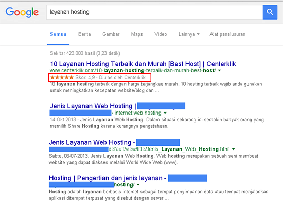 Membuat Website Review layanan hosting snippet review