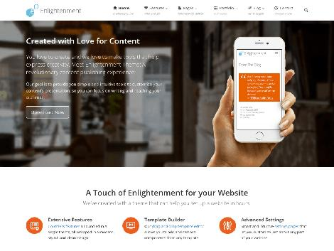 Tema WordPress Bisnis enlightenment