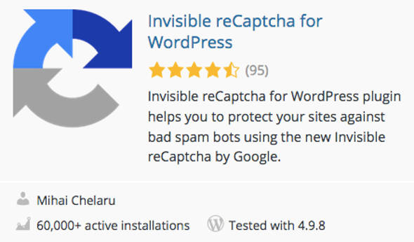 Google reCaptcha WordPress Plugin