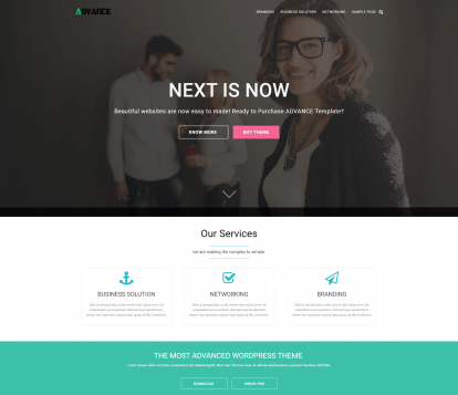 theme wordpress advance free
