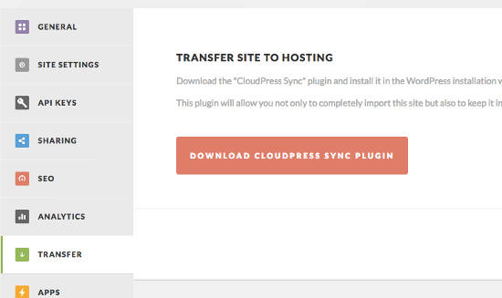 cloudpress-transfer-hosting