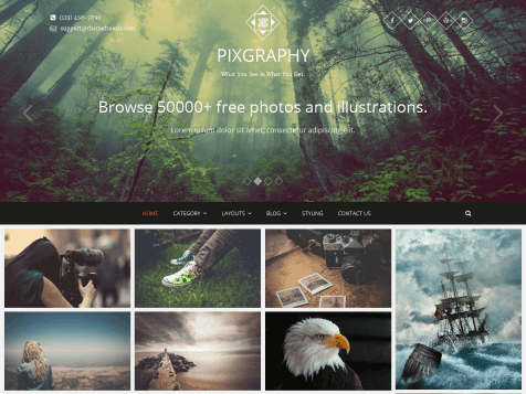 theme-wordpress-pixagraphy-responsive
