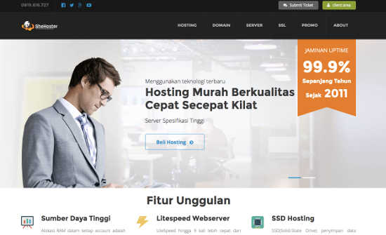 shehoster hosting murah indonesia