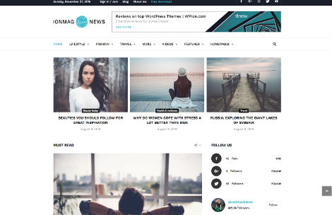 Theme WordPress ionmag responsive free