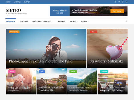 Theme WordPress Metro Magazine Free