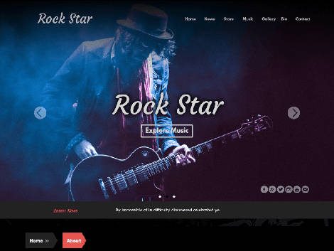 Theme WordPress Rock Star Responsive