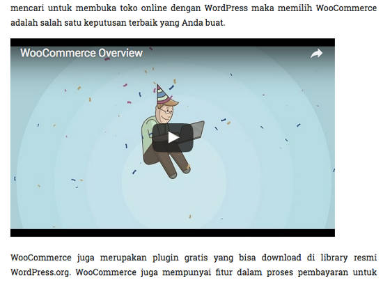 Video embed WordPress